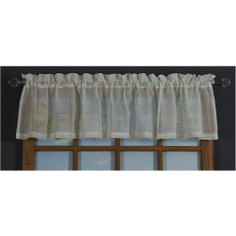 Leno Box Voile Tailored Valance