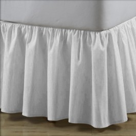 Linen Blend Ruffled Bed Skirt