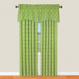 Waverly Lovely Lattice  Curtain Panel and Valance