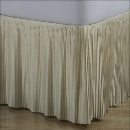 Satin Split Corner Pleated Bedskirts