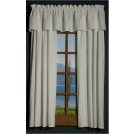 Pin Tuck Tailored Curtain Panel and Valances