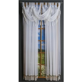 Rajah Tab Curtain Panel and Valance
