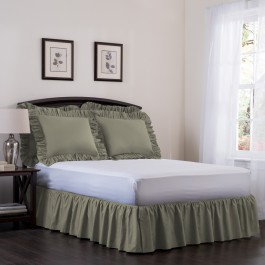 Ashton Detachable Ruffled Bed Skirt Ensemble