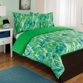 Royale Linens Tropicana Reversible Comforter Set