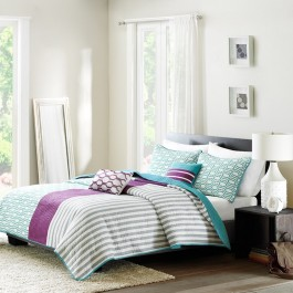 Intelligent Design Viva Reversible Coverlet Set