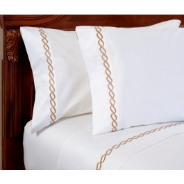 Wickham Rope Embroidered 300 Thread-Count Pillow Case