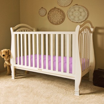Sateen Stripe Fitted Crib Sheet