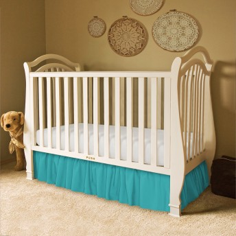 Solid Ruffled Crib Bed Skirt