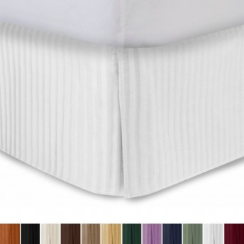 300tc Sateen Stripe Tailored Bed Skirt