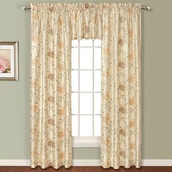 Avalon Emboridered Faux Silk Curtain Panel
