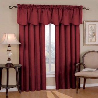 Eclipse Canova Thermaback Blackout Curtain Panel and Valance