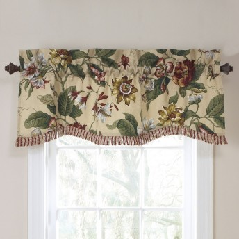 Waverly Laurel Springs  Lined Window Valance