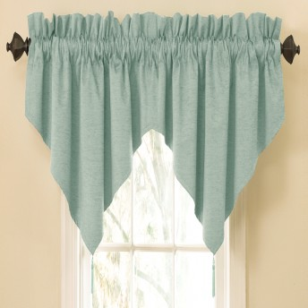 Waverly Sound Asleep Room-Darkening Rod Pocket Ascot Valance