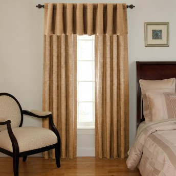 Waverly Sound Asleep Room-Darkening Back Tab Curtain Panel and Valance