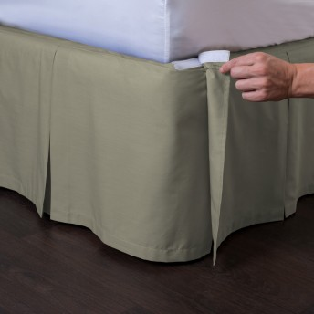 Ashton Detachable Pleated Bed Skirt