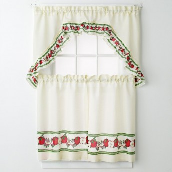 Apples 3-pc Kitchen Curtain Set