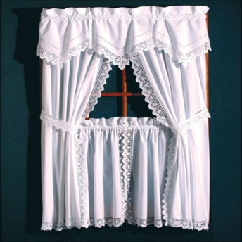 Crochet Tailored Curtain Pair