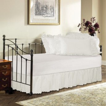 Day Bed Eyelet Ruffled Bed Skirt