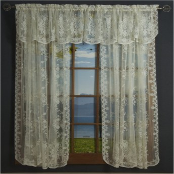 Fiona Scottish Lace Curtain Panel and Valances