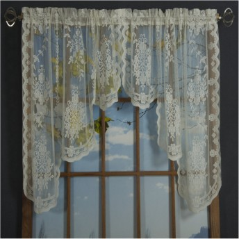 Fiona Scottish Lace Swag Valance
