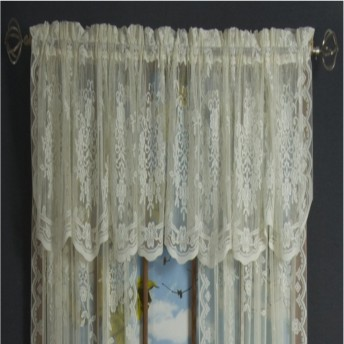 Fiona Scottish Lace Flat Valance