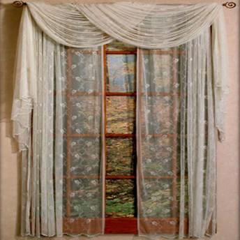 Floral Net Lace Curtain Panel