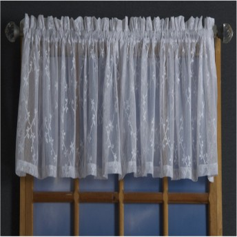 Lattice Crush Lace Valance