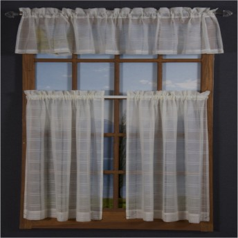 Leno Box Voile Café Curtain Pair