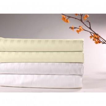 Sateen Stripe 300 Thread Count- 100% Cotton Flat Sheet