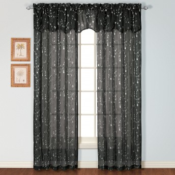 Savannah Embroidered Curtain Panel