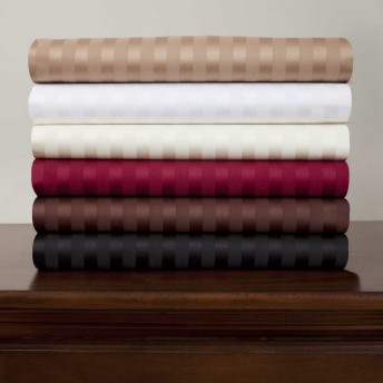 Royal Mystique 300 Thread Count Sateen Stripe Cotton Sheet Set