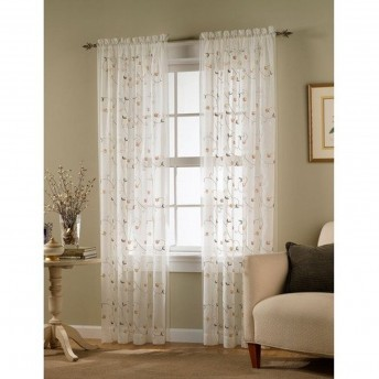 Stephanie Embroidered Sheer Curtain Panel