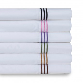 Wickham Linear Embroidered 300 Thread-Count Sheet Set