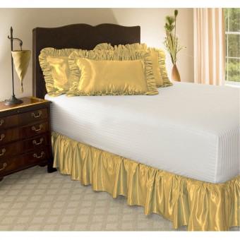 Satin Ruffled Bed Skirt