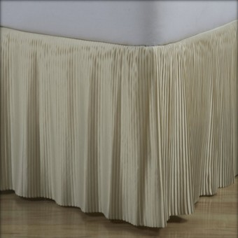 Satin Split Corner Pleated Bedskirts