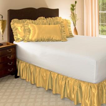 Satin Ruffled Bed Skirt Shopbedding Com