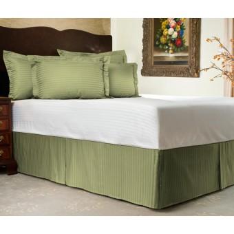 300tc Sateen Stripe Tailored Bed Skirt Shopbedding Com