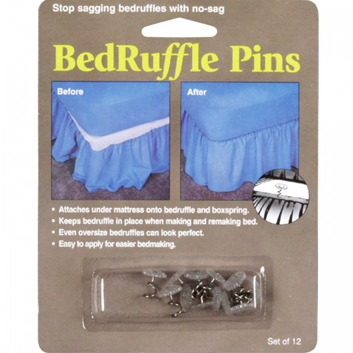 Bed Skirt Pins Set Of 12 Shopbedding Com