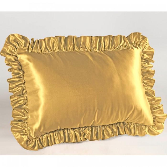 Satin Ruffled Pillow Sham