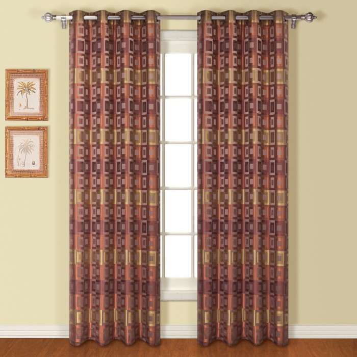 Union Square Modern Square Grommets Top Curtain Panel