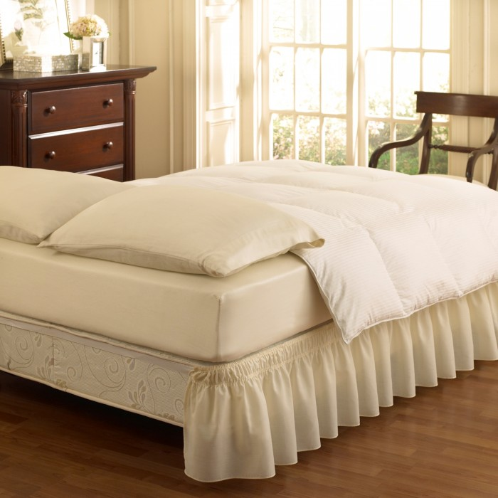 Ruffled Wrap Around Bed Skirts & Pillow Shams
