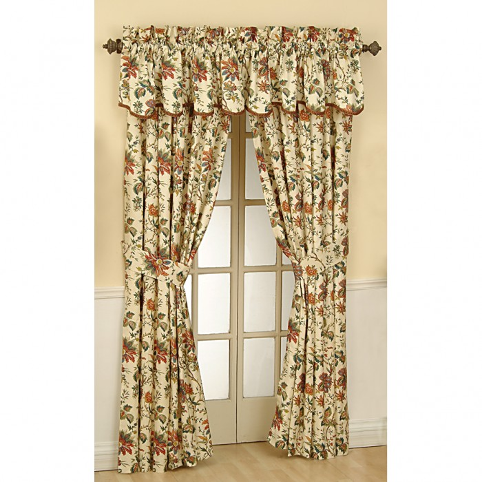 Image result for CREAM MULTI COLOR FLORAL CURTAINS