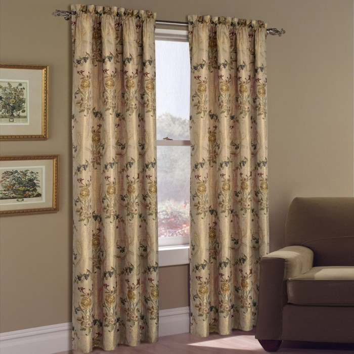 Jewel Embroidered Floral Curtain Panels And Austrian