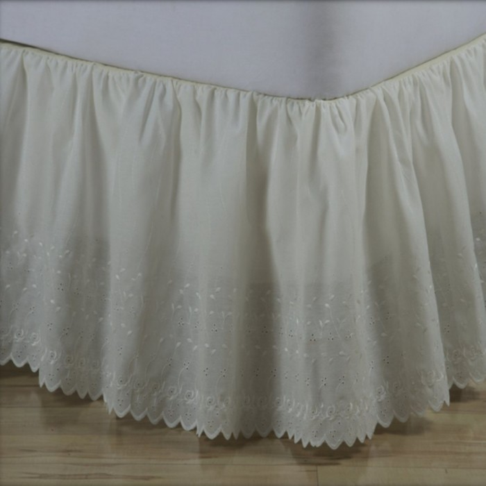 Ruffled Bed Skirts - Eyelet
