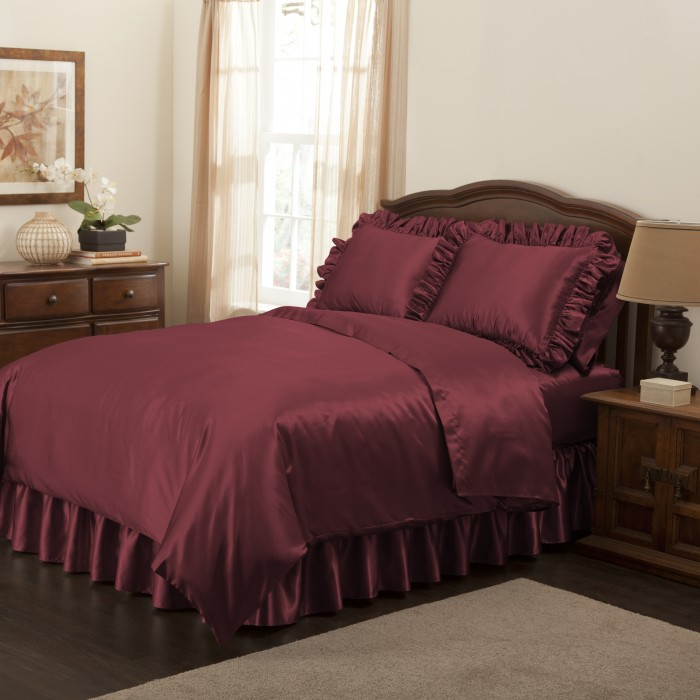 luxurious satin bedding collection. Black Bedroom Furniture Sets. Home Design Ideas
