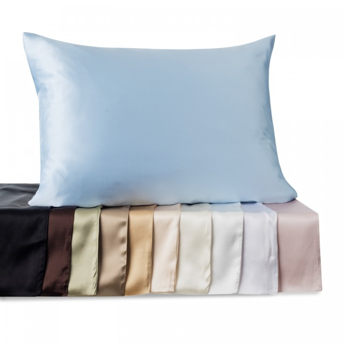 Satin Pillowcase Prevent Hair Loss: Kimspun 100% Silk Pillowcase With Hidden Zipper