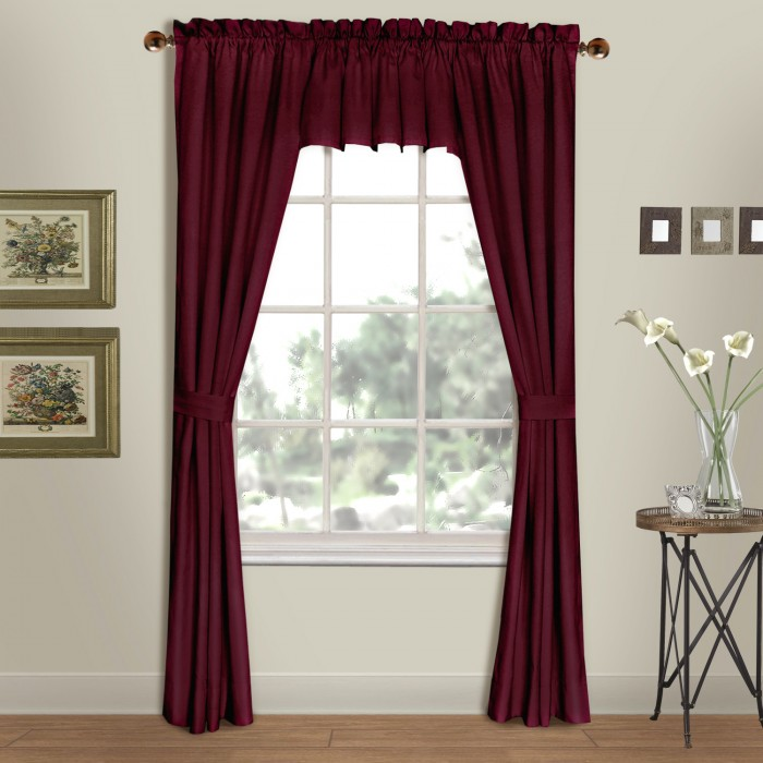 westwood solid pole top curtain panels and valance | shopbedding