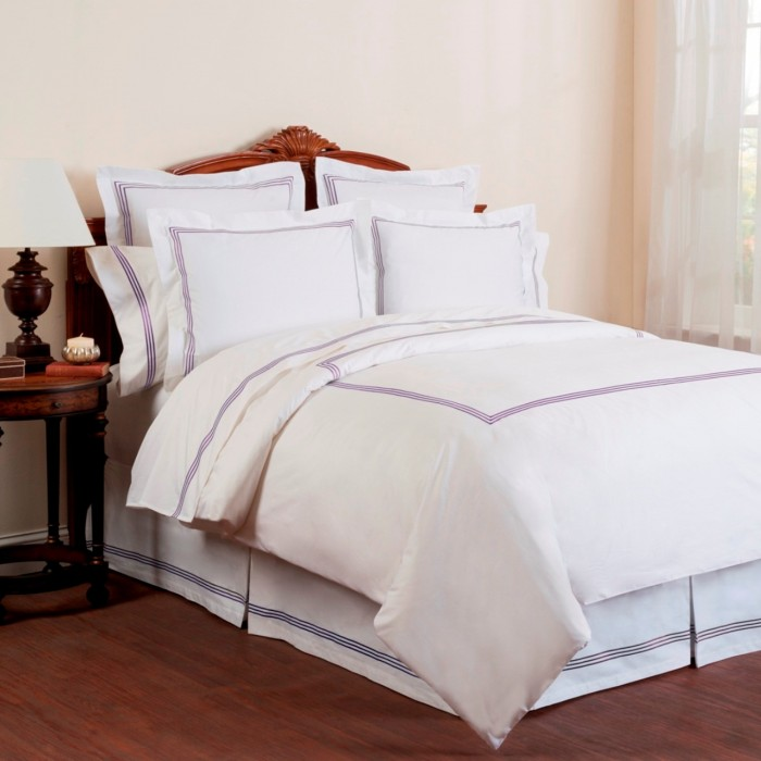 Wickham Linear Embroidered Bed Skirt Shopbedding Com